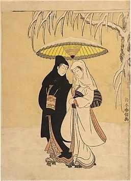 Couple amoureux (Corbeau et Héron). Suzuki Harounobu. MET.